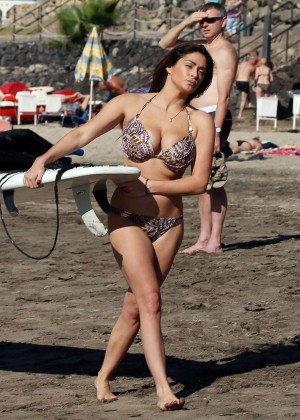 Casey Batchelor: Wearing bikini at Tenerife-13