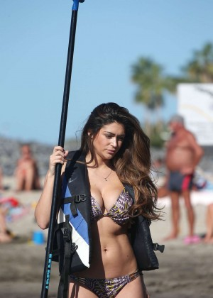 Casey Batchelor: Wearing bikini at Tenerife-29
