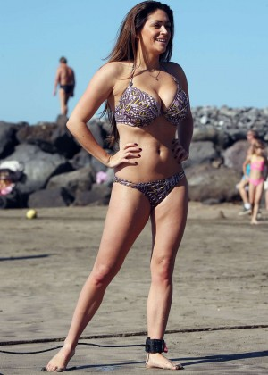 Casey Batchelor: Wearing bikini at Tenerife-33