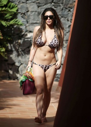 Casey Batchelor: Wearing bikini at Tenerife-45