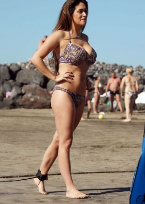 Casey Batchelor: Wearing bikini at Tenerife-71