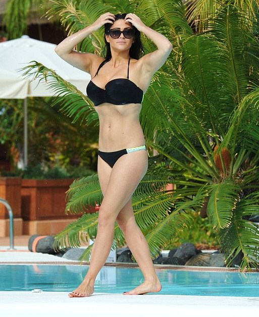 Casey Batchelor in Black Bikini in Tenerife
