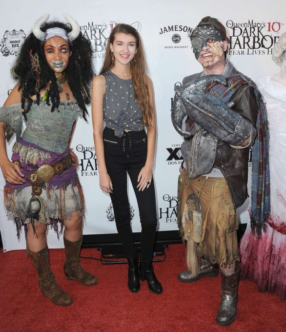 Casey Burke - Queen Mary's 10th Annual Dark Harbor Media and VIP Night in Long Beach