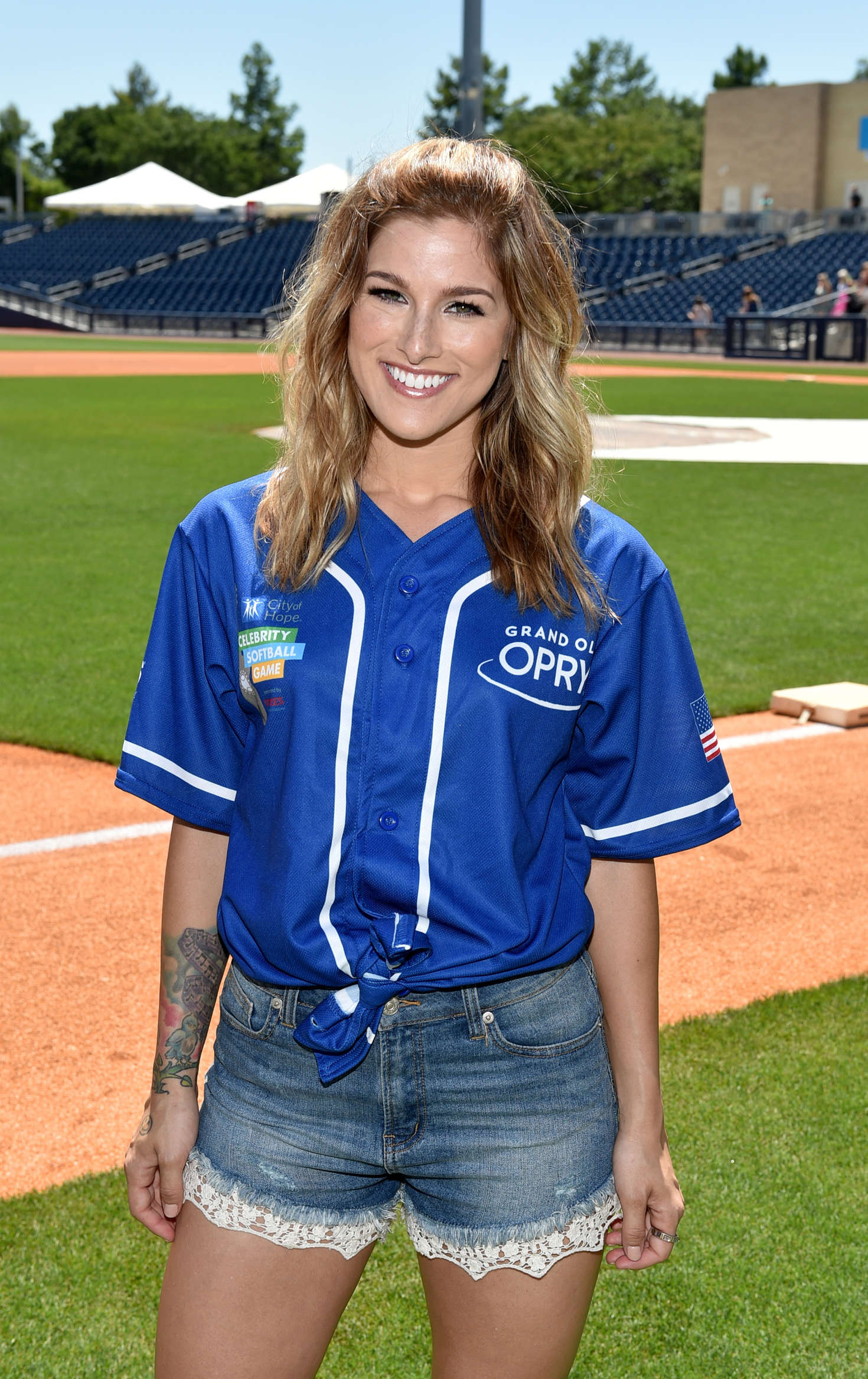 Celebrity softball game replay