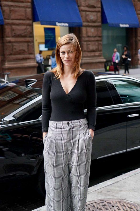 Cassidy Freeman - Arriving at Build Studios in New York