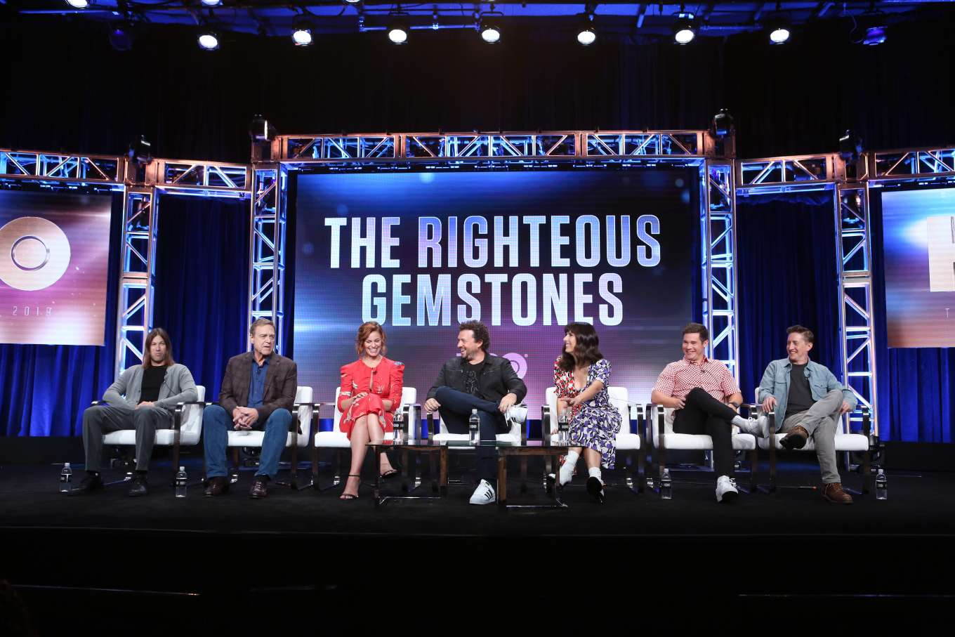 Cassidy Freeman 2019 : Cassidy Freeman – HBO The Righteous Gemstones Panel – 2019 TCA Summer Press Tour-07