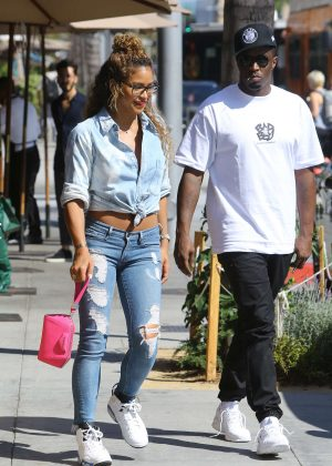 Cassie in Ripped Jeans out in Beverly Hills