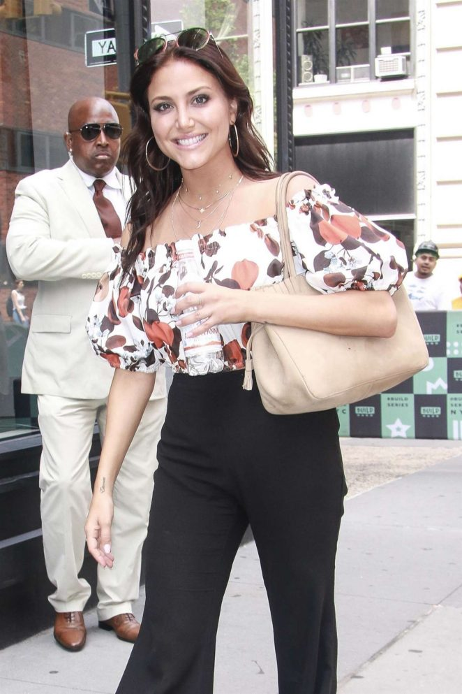 Cassie Scerbo - Arriving at AOL Build Series in New York City