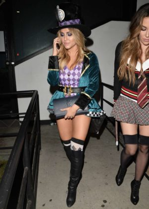 Cassie Scerbo - Leaves a Halloween Party at Poppy in LA