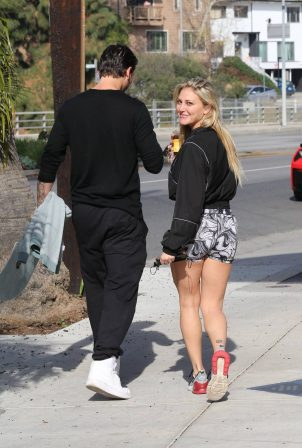 Cassie Scerbo - Leggy candids while out for some caffee in Los Angeles