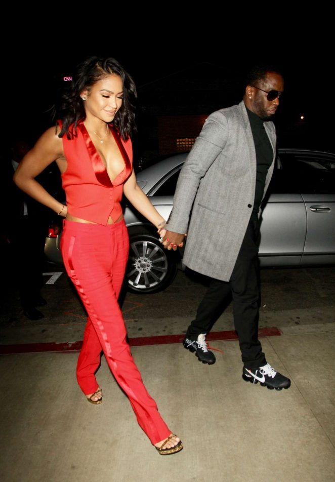 Cassie Ventura and Puff Daddy at LA hot spot Tao in Hollywood