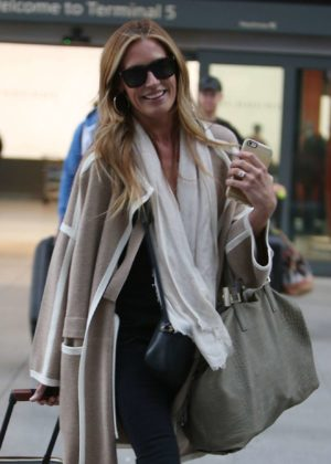 Cat Deeley - Arriving at Heathrow Airport in London