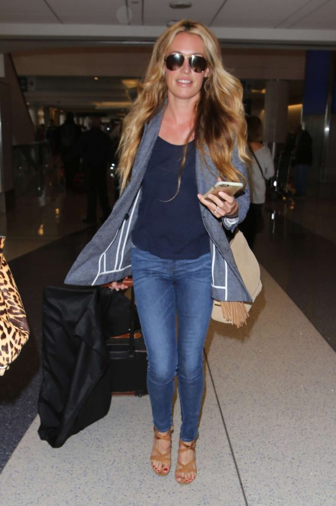 Cat Deeley at LAX Airport in Los Angeles
