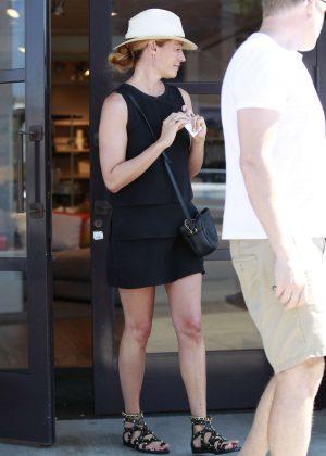 Cat Deeley in Black Dress - Shopping in LA