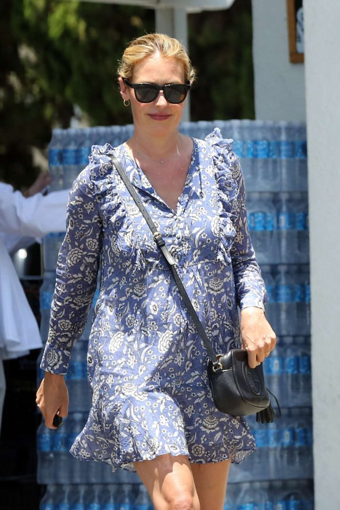 Cat Deeley in Floral Mini Dress - Shopping at Bristol Farms in West Hollywood
