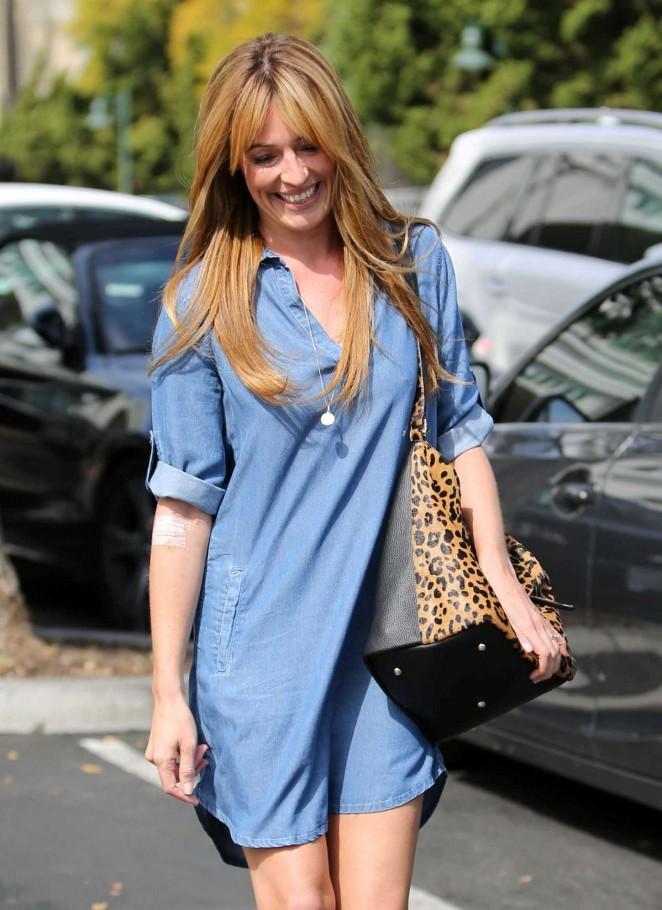 Cat Deeley in Jeans Dress out in LA