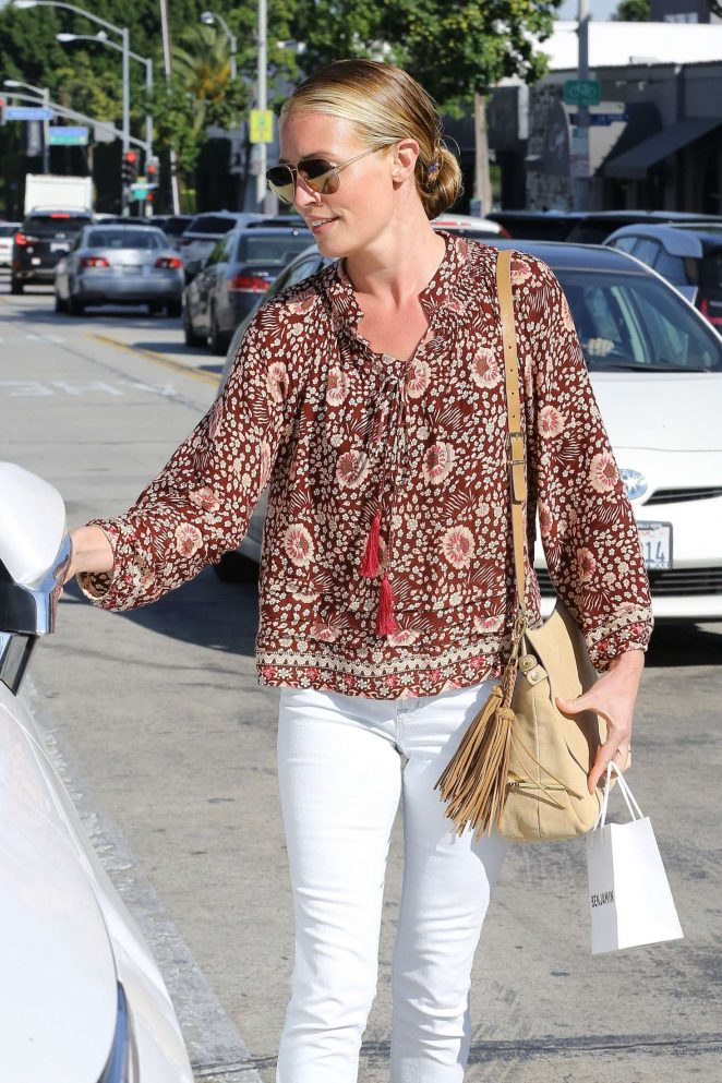Cat Deeley in White Jeans out in West Hollywood