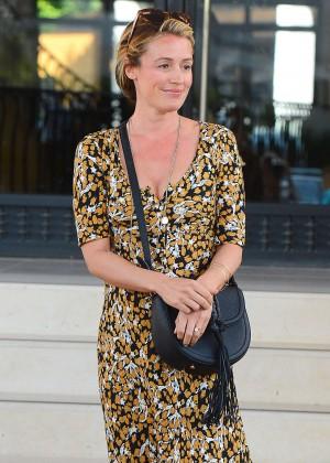 Cat Deeley in Long Dress Out in LA