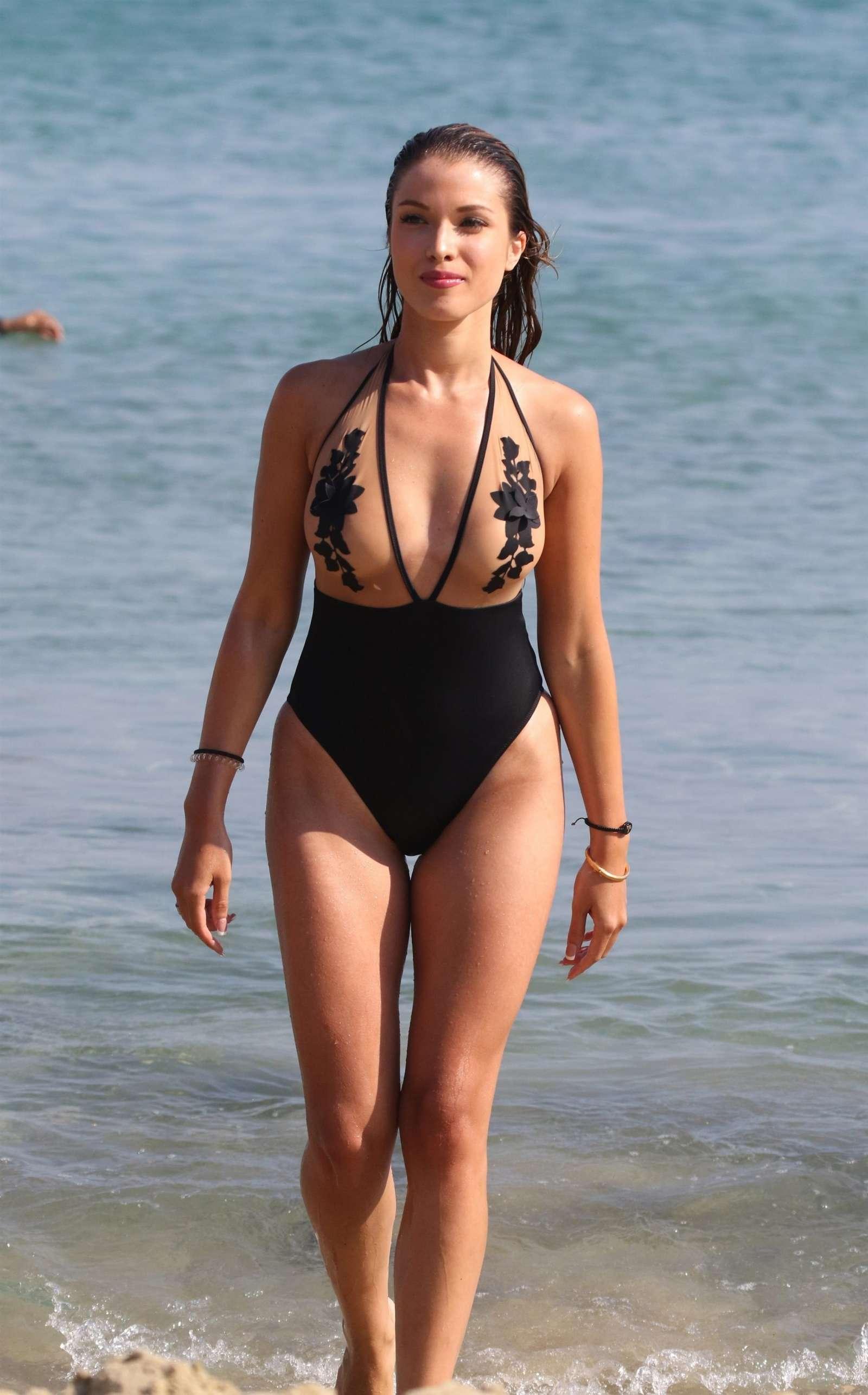 Catarina Sikiniotis in Swimsuit 2017 -18   GotCeleb