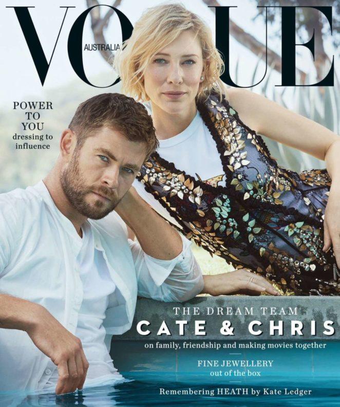 Cate Blanchett and Chris Hemsworth - Vogue Australia (November 2017)