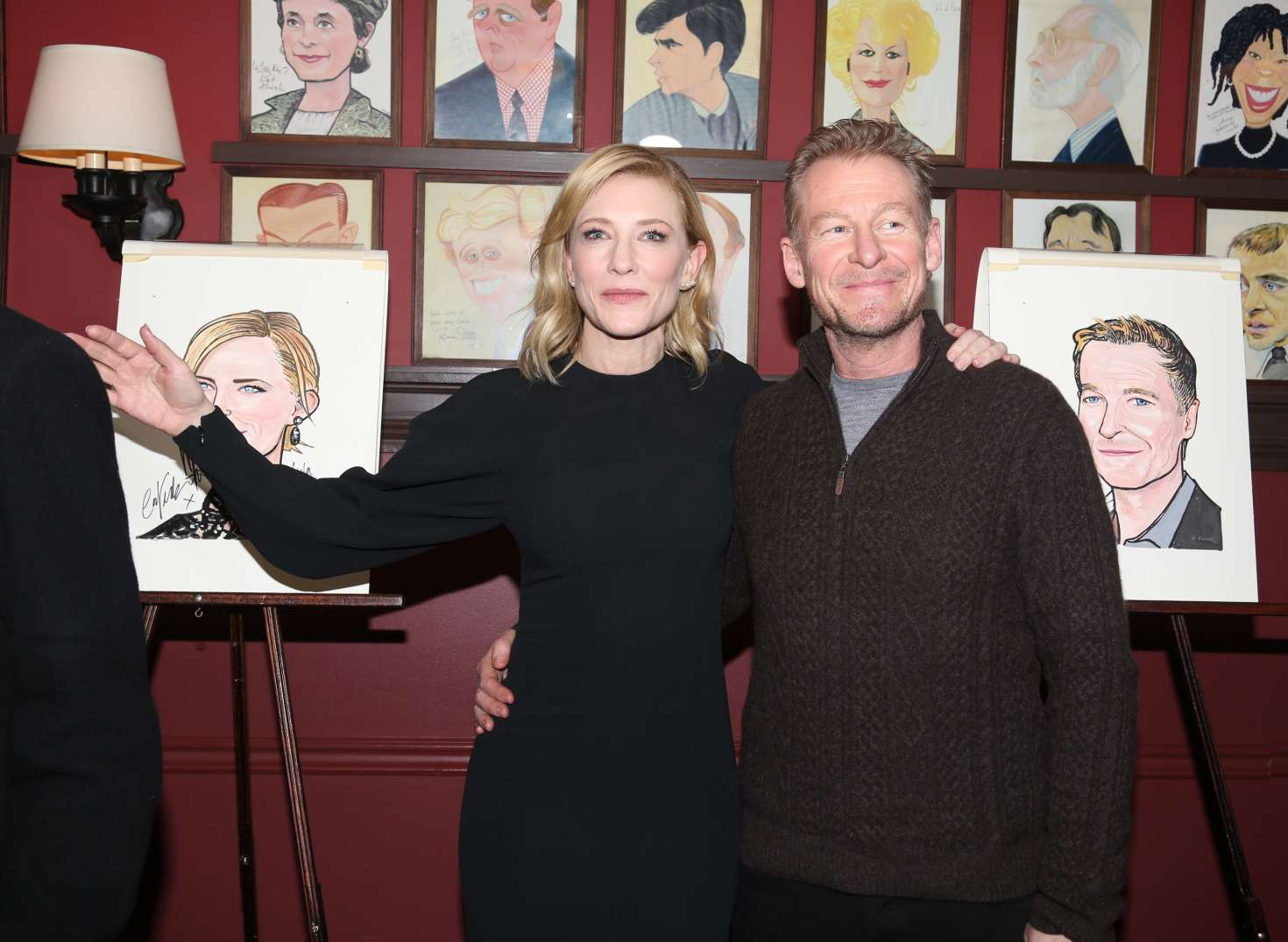 Cate Blanchett and Richard Roxburgh Sardi's caricature unveiling in NYC