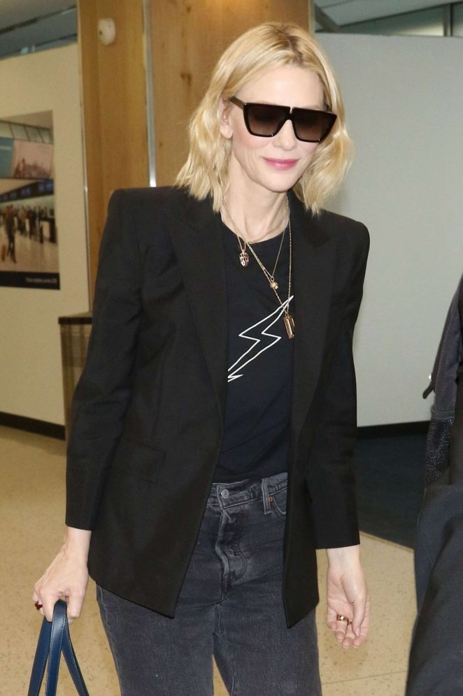 Cate Blanchett - Arrives in London
