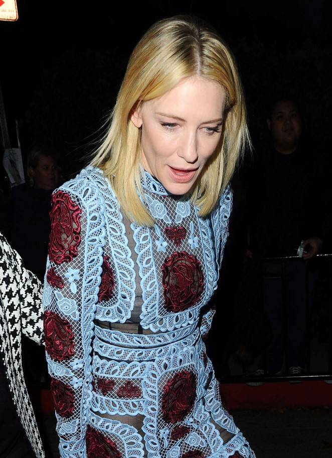 Cate Blanchett - Arrives to the W Magazine Golden Globe Party in LA