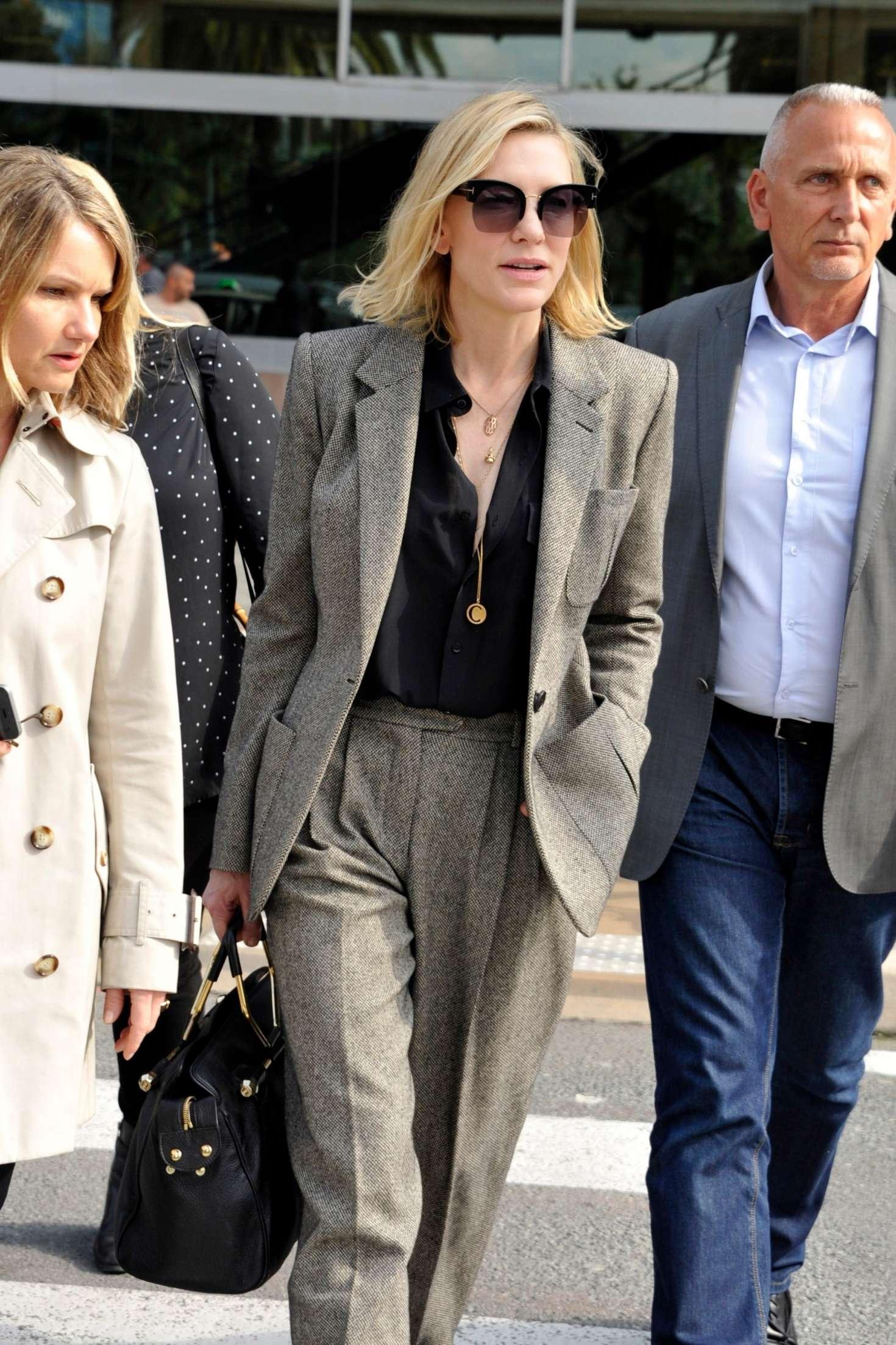 Cate Blanchett 2018 : Cate Blanchett: Arriving at Nice Airport -01