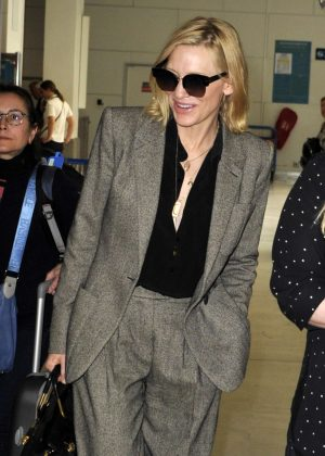 Cate Blanchett - Arriving at Nice Airport