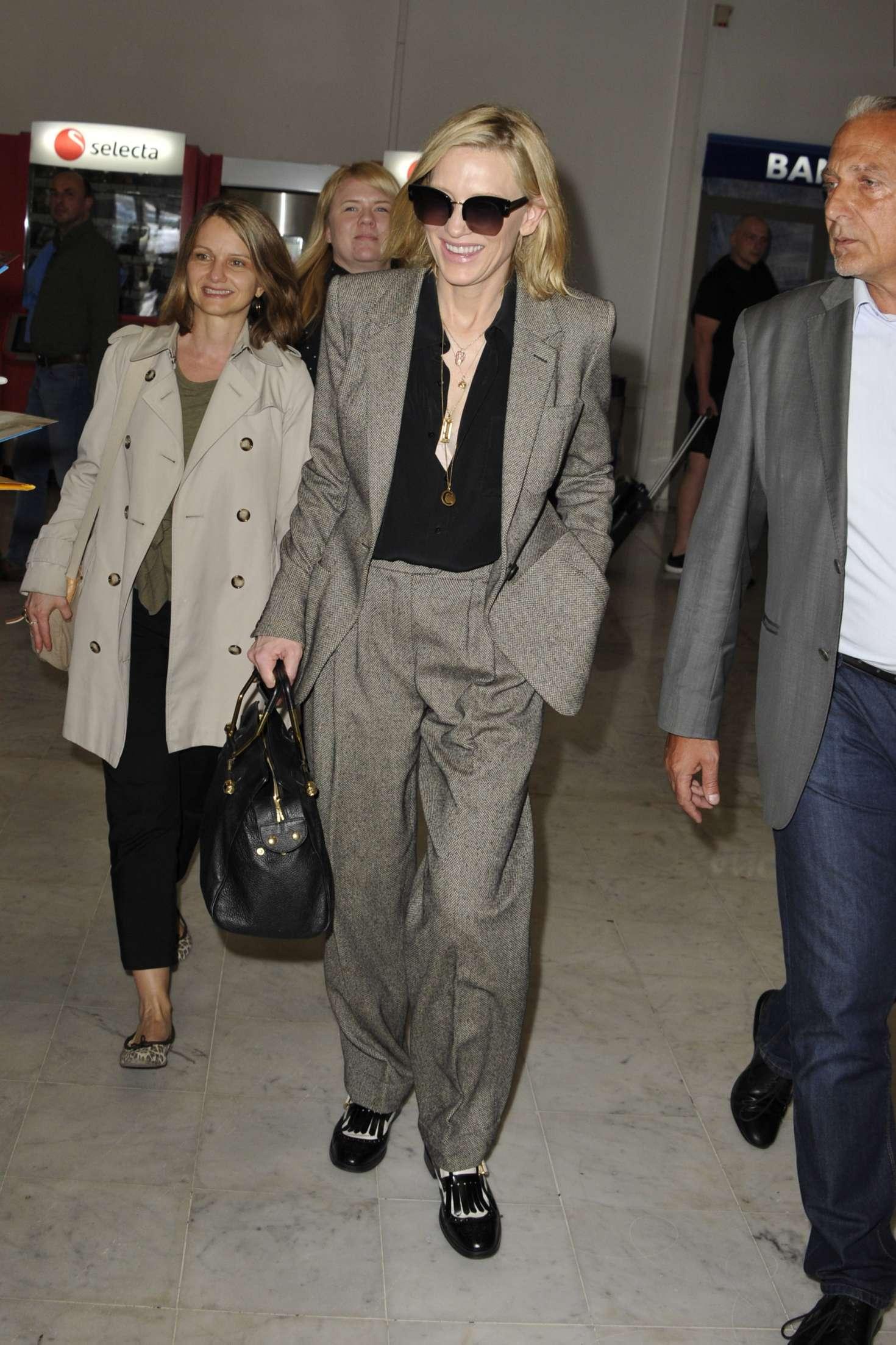 Cate Blanchett 2018 : Cate Blanchett: Arriving at Nice Airport -07