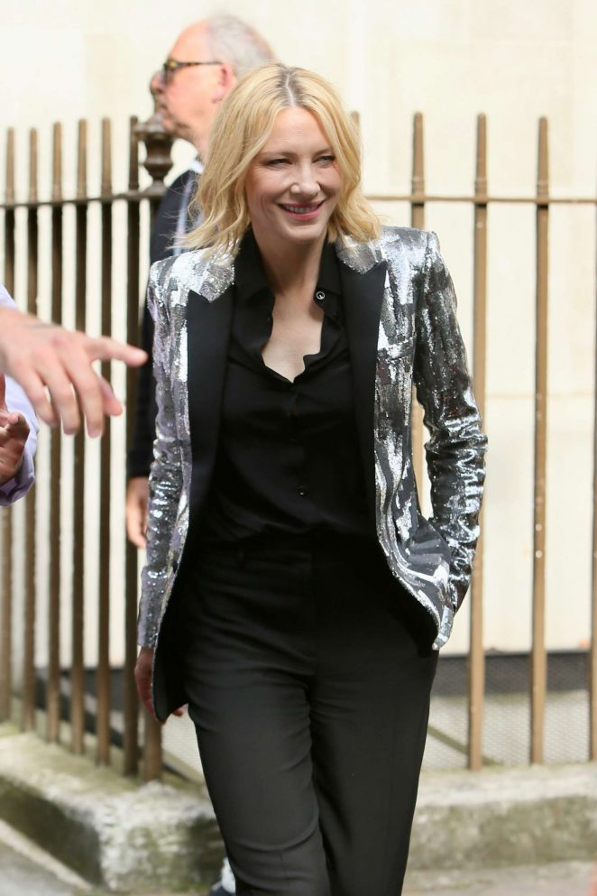 Cate Blanchett - Arriving at the Late Late Show with James Corden in London