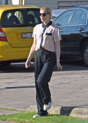 Cate Blanchett at Belinda's Art of Dance Studio in Sydney