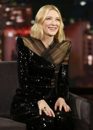 Cate Blanchett at Jimmy Kimmel Live! in Los Angeles