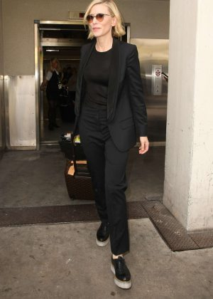 Cate Blanchett at LAX Airport in Los Angeles