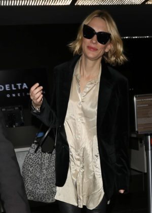 Cate Blanchett at Los Angeles International Airport in LA
