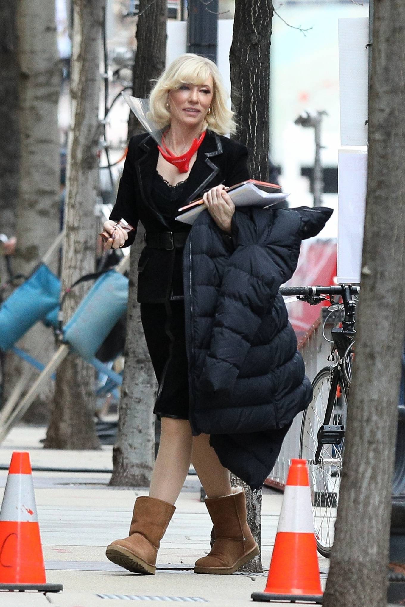 Cate Blanchett - Filming 'Don't Look Up' in Boston