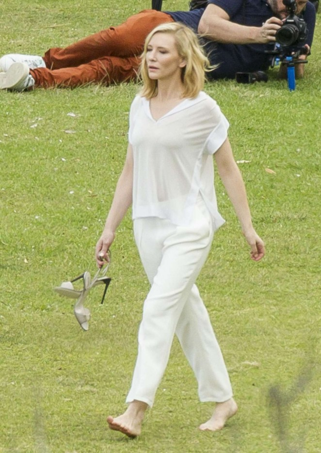 Cate Blanchett - Filming Giorgio Armani Commercial in Sydney