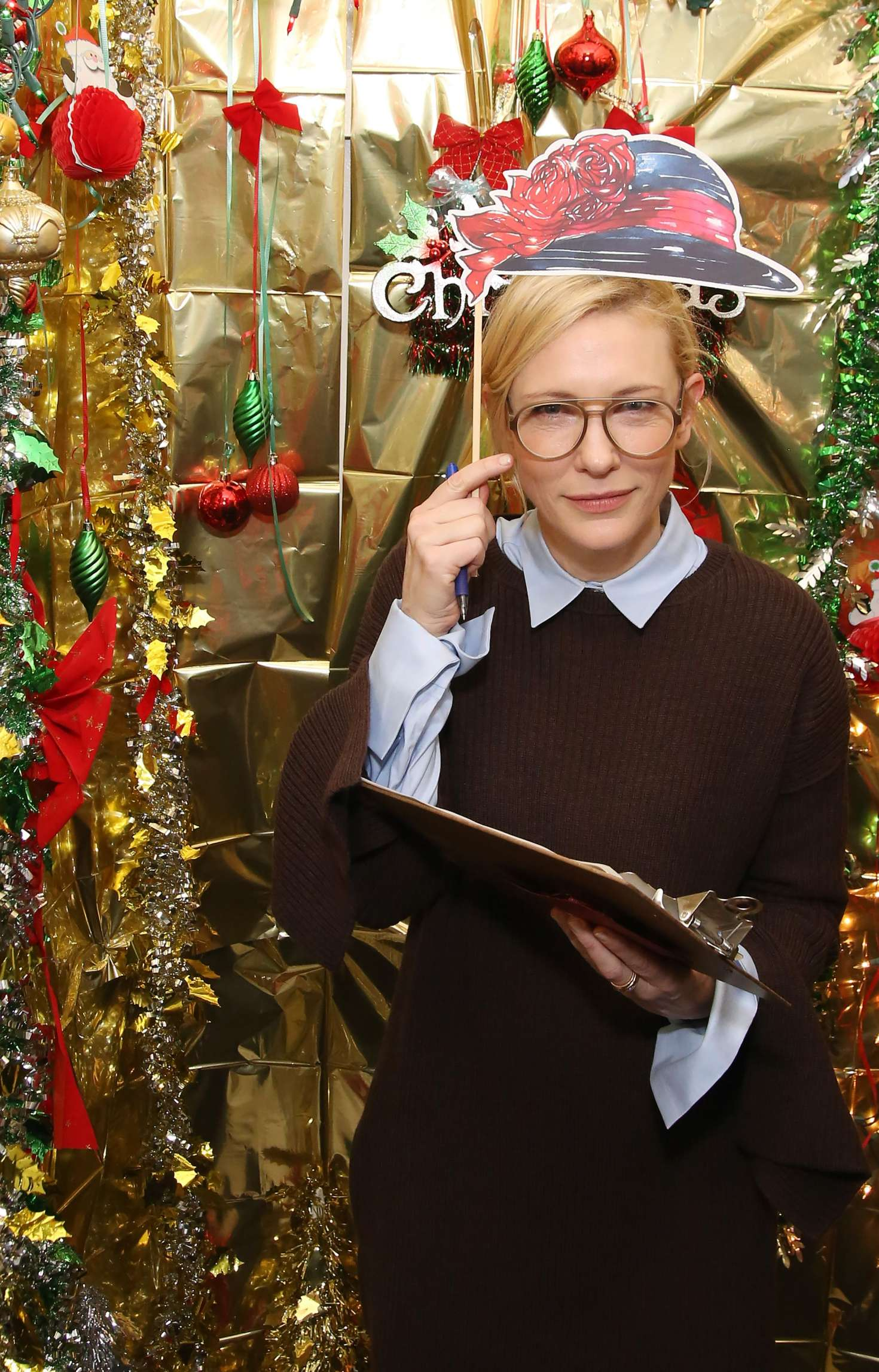 Cate Blanchett - 'Hamilton' Holiday Cast Door Competition in New York
