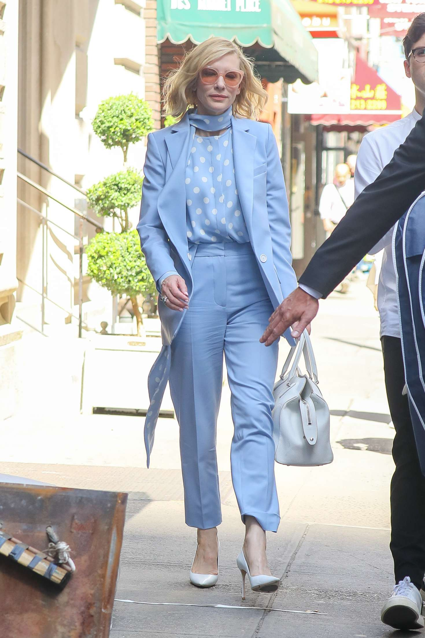 Cate Blanchett 2018 : Cate Blanchett in Light Blue outfit -01