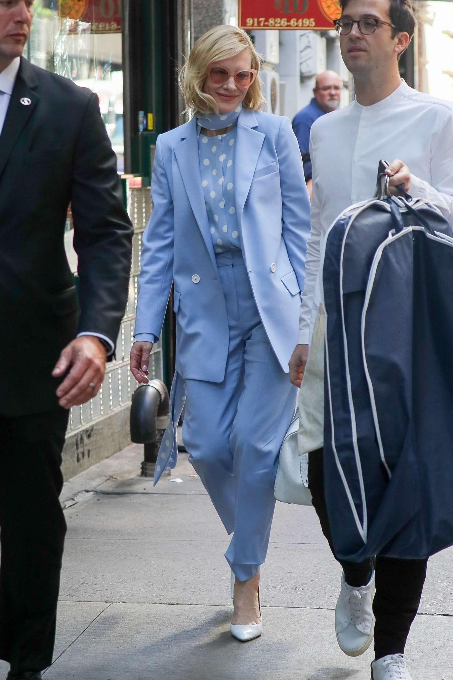 Cate Blanchett 2018 : Cate Blanchett in Light Blue outfit -02