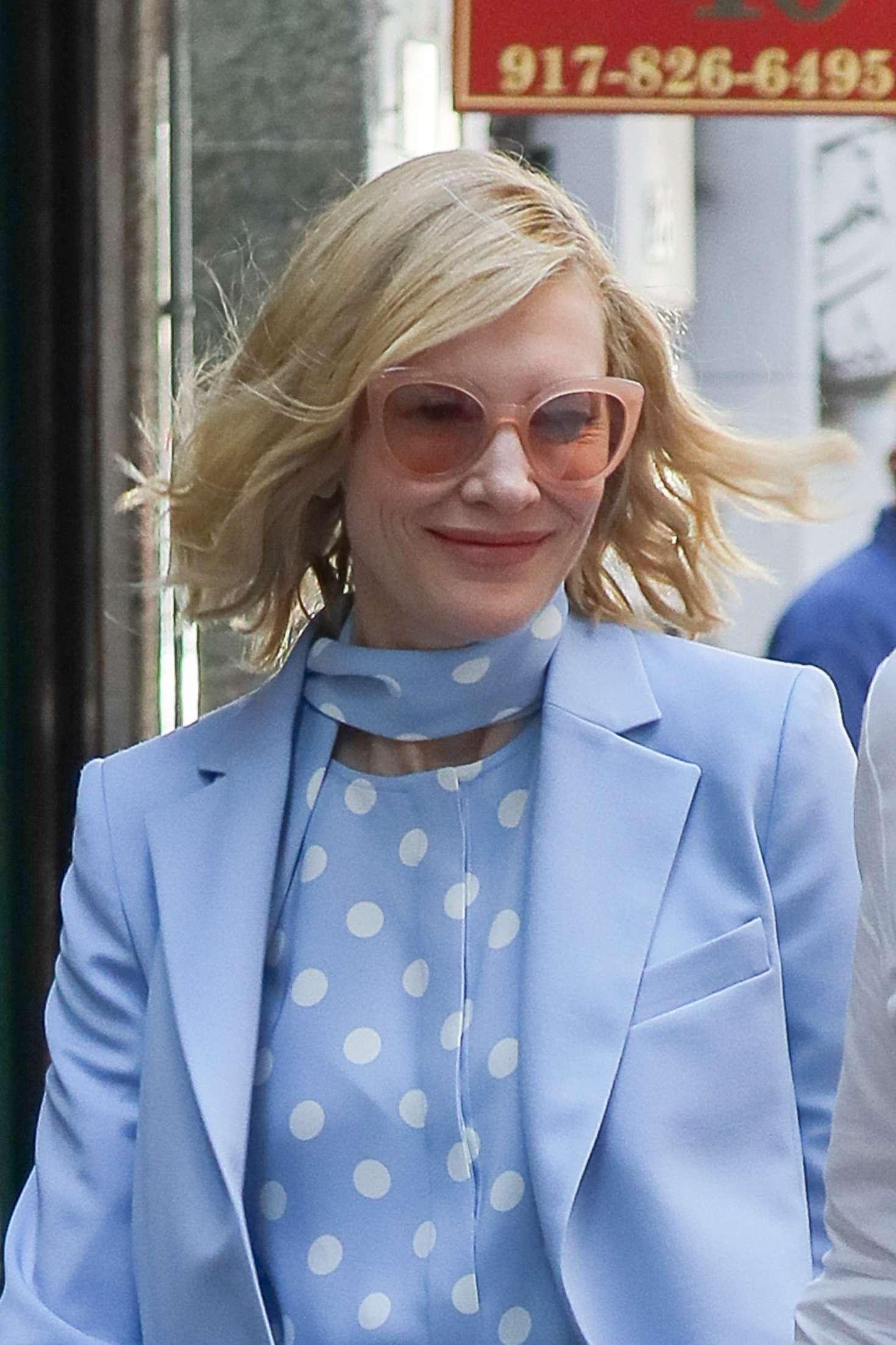Cate Blanchett 2018 : Cate Blanchett in Light Blue outfit -04