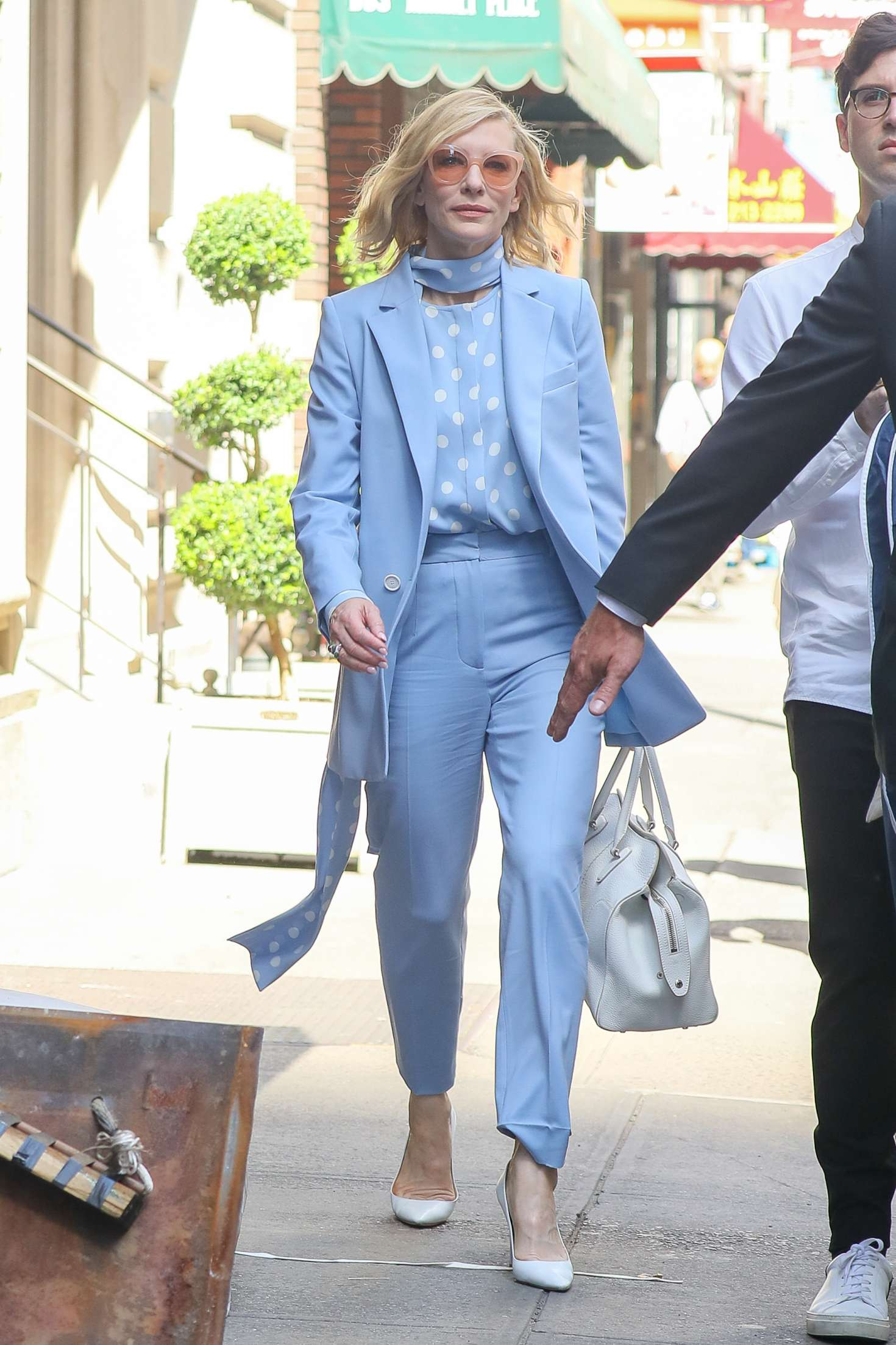 Cate Blanchett 2018 : Cate Blanchett in Light Blue outfit -05