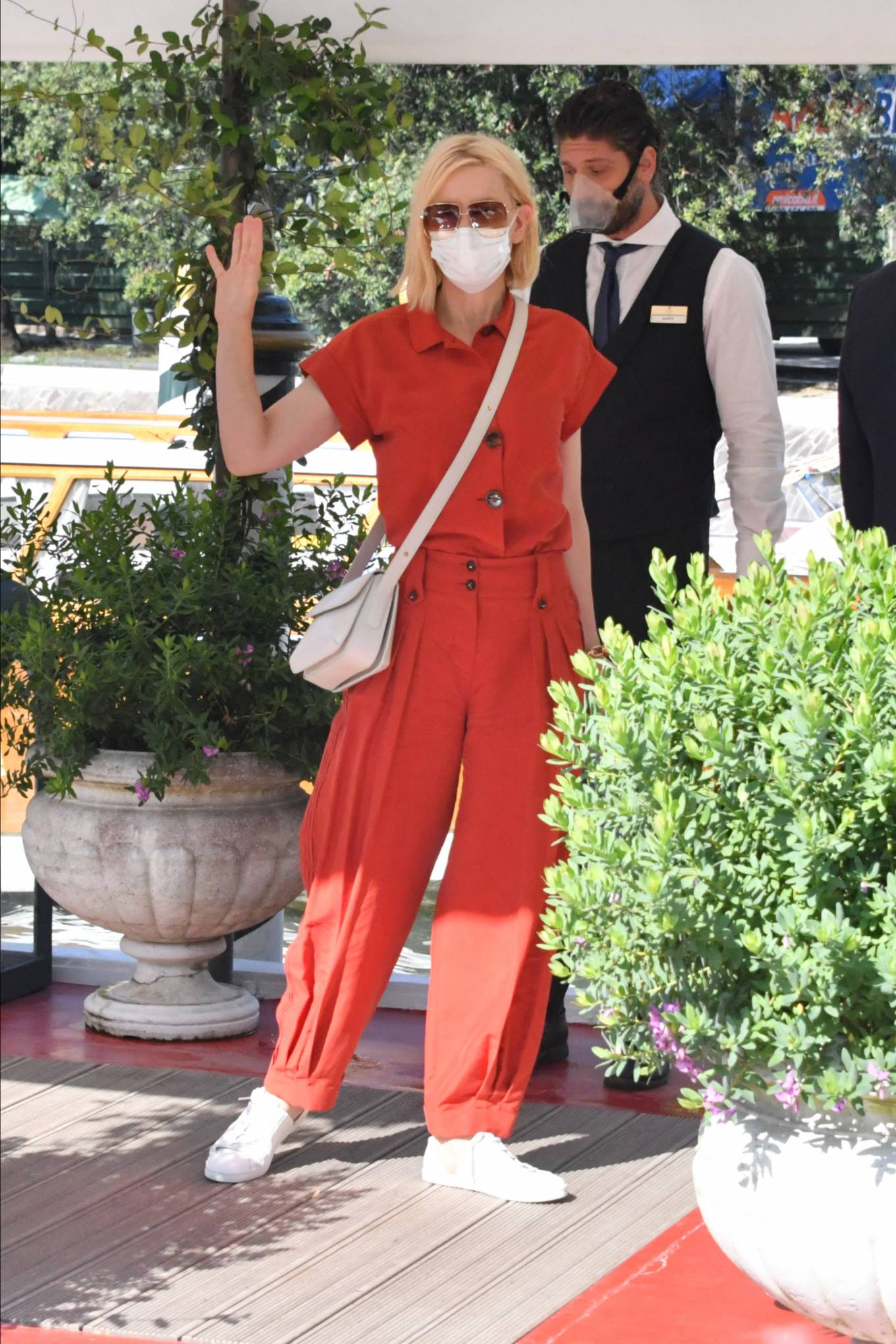 Cate Blanchett - In red at Excelsior hotel during 77th Venice Film Festival