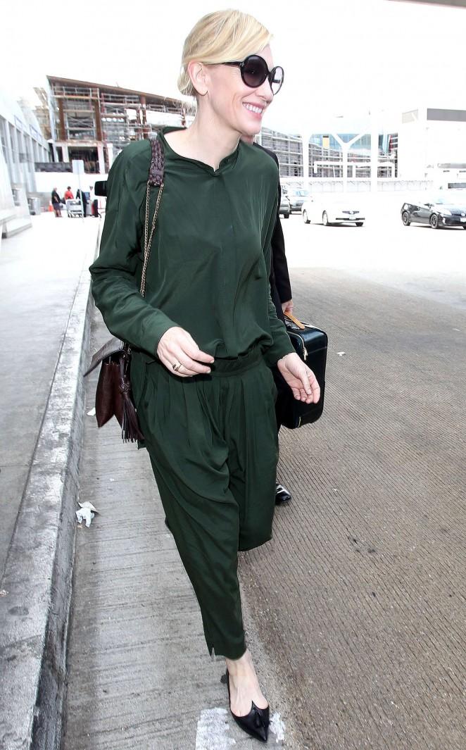Cate Blanchett - LAX Airport in LA