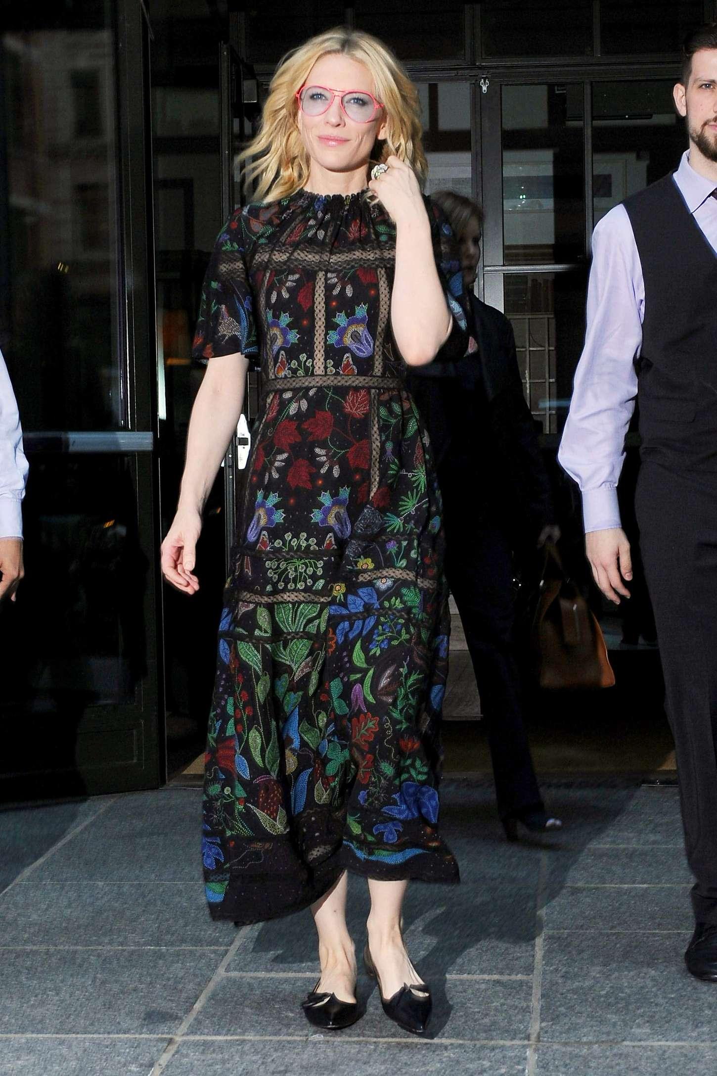 Cate Blanchett 2015 : Cate Blanchett: Leaves her Soho Hotel -05