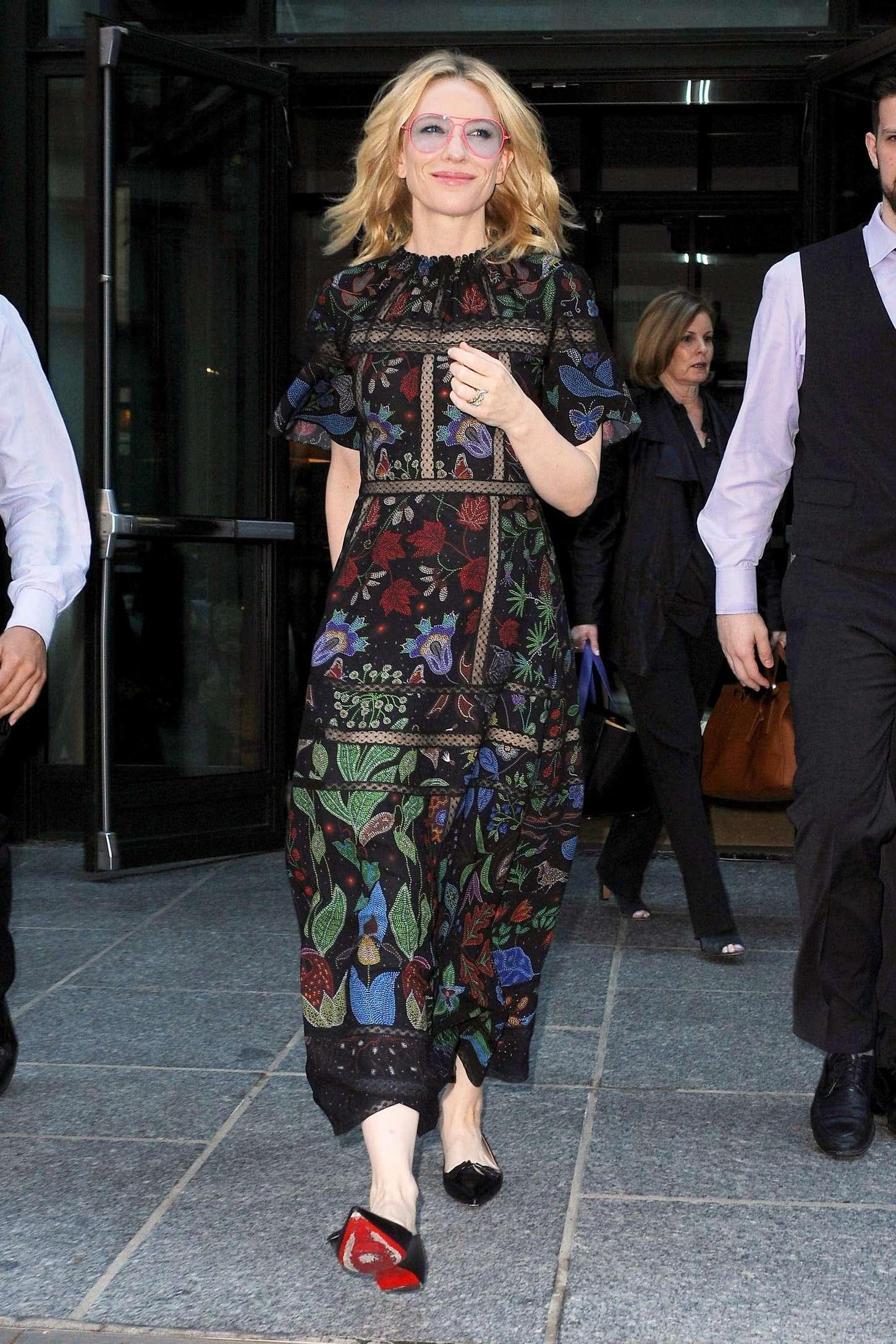 Cate Blanchett 2015 : Cate Blanchett: Leaves her Soho Hotel -08