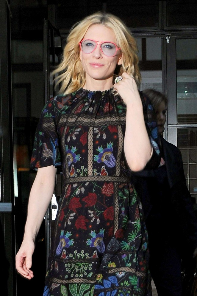 Cate Blanchett - Leaves her Soho Hotel in NY