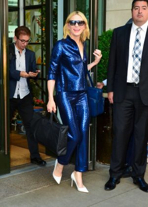 Cate Blanchett - Leaves Whitby Hotel in New York