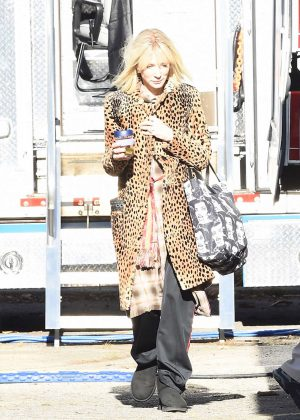 Cate Blanchett - Leaving her trailer in 'Ocean's Eight' set in NY