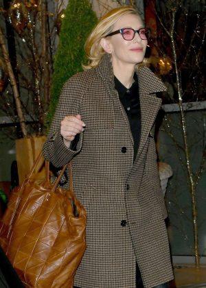 Cate Blanchett - Leaving Soho House in London